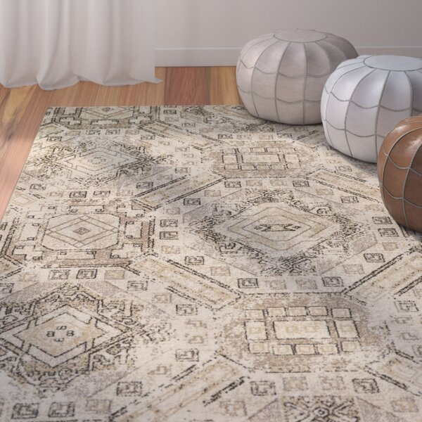 Edgware Beige Area Rug by Bungalow Rose