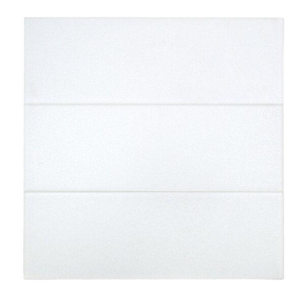 Midtown Sense 4 x 12 Glass Subway Tile in Pearl White by Splashback Tile