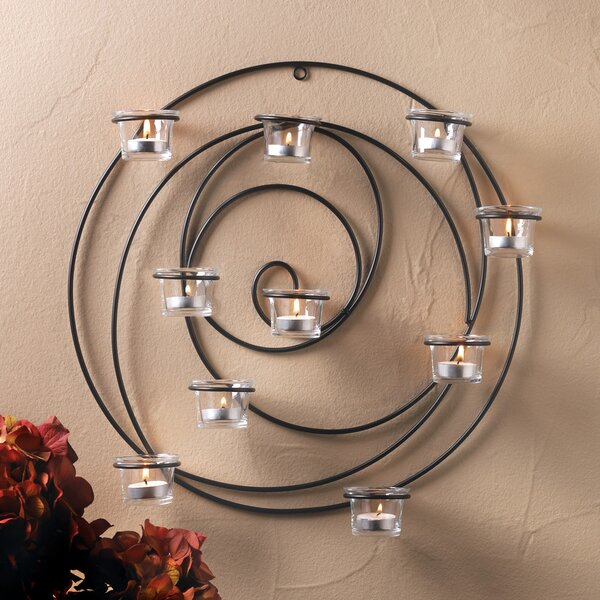 Iron and Glass Sconce by Zingz & Thingz