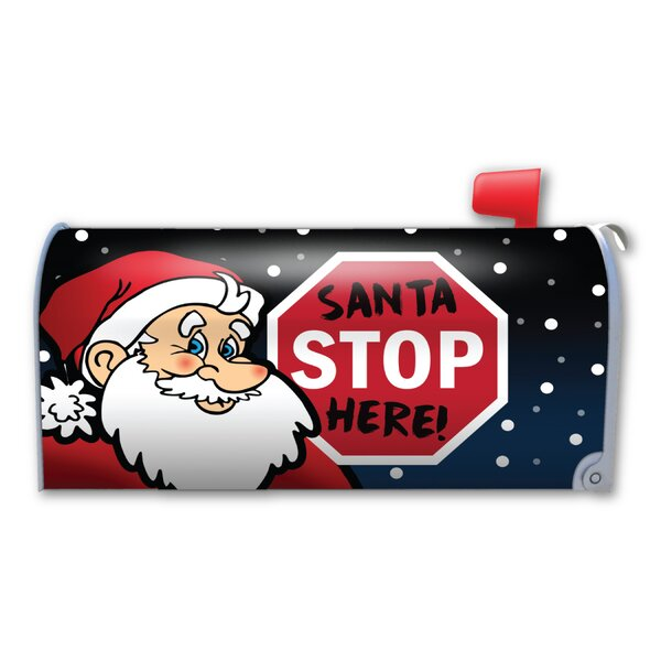 Santa Stop Here! Magnetic Mailbox Cover by Magnet America