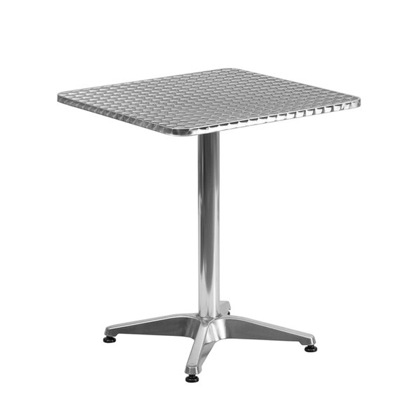 Alaric Square Indoor Outdoor Aluminum Bistro Table by Ebern Designs