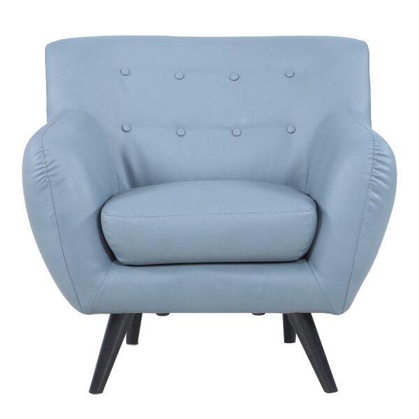 madison home usa mid century modern tufted bonded leather armchair u0026 reviews wayfair