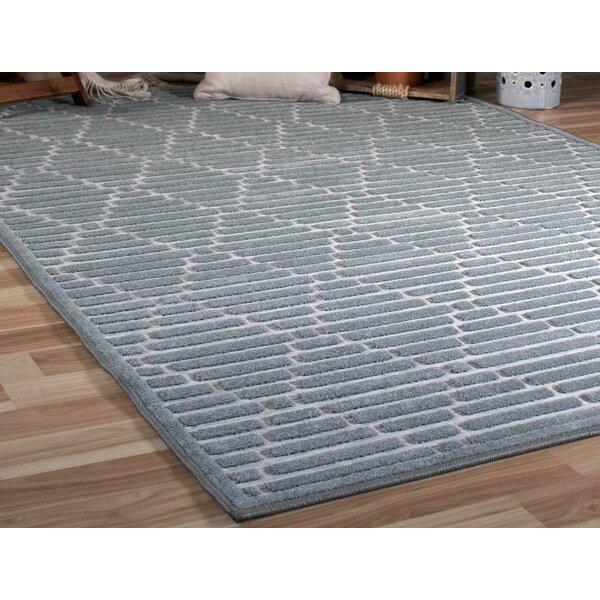 Behrens Gray Indoor/Outdoor Area Rug by Wrought Studio