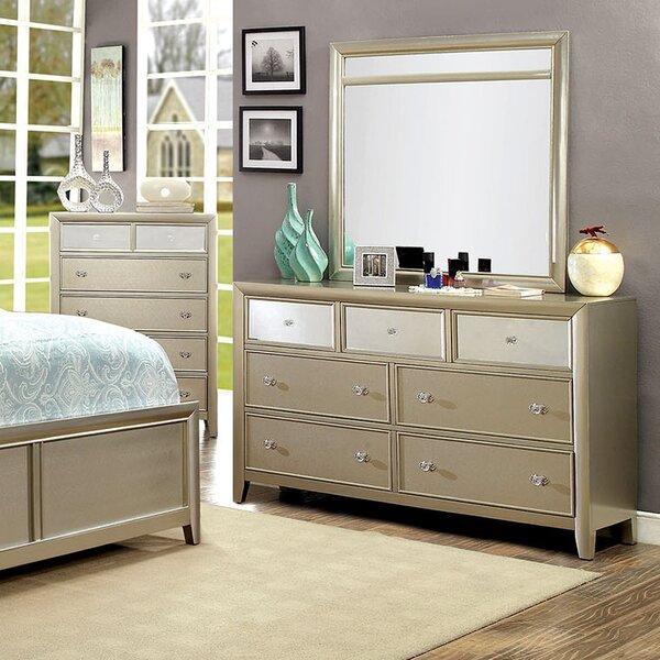 Ashmont Rectangular Dresser Mirror by A&J Homes St