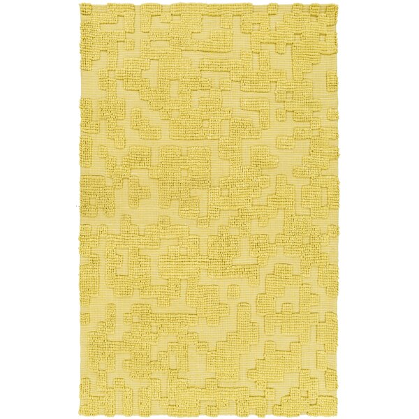 Edmonson Handmade Yellow Area Rug by Ivy Bronx