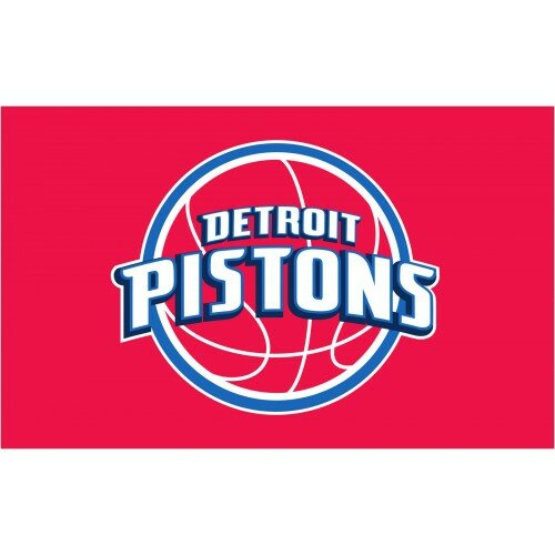 NBA Detroit Pistons Polyester 3 x 5 ft. Flag by NeoPlex