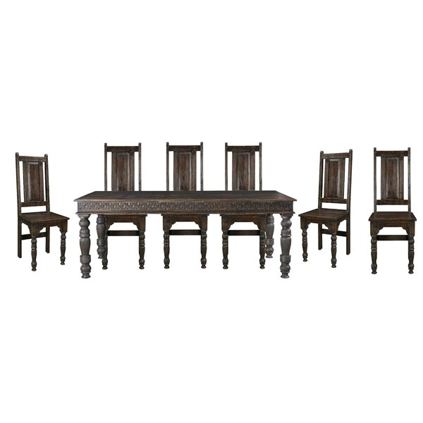 Alia Teak 7 Piece Solid Wood Dining Set by Mistana