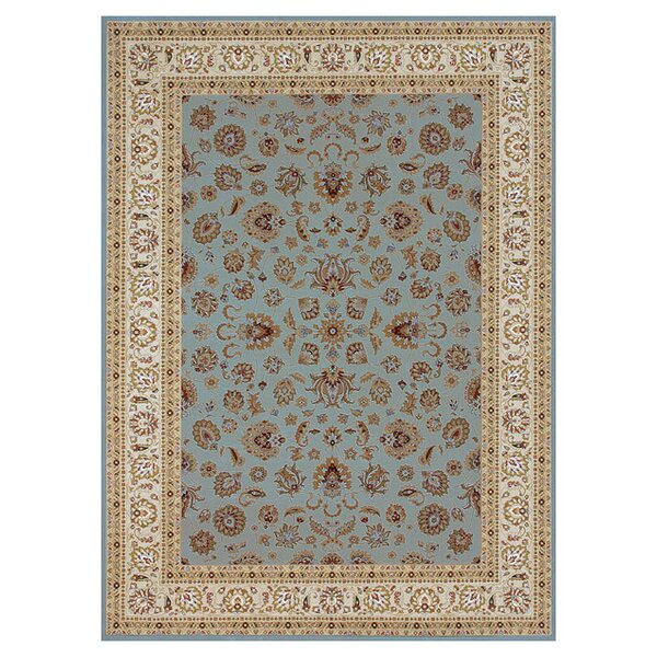 Kirkman Blue/Ivory Area Rug by Charlton Home