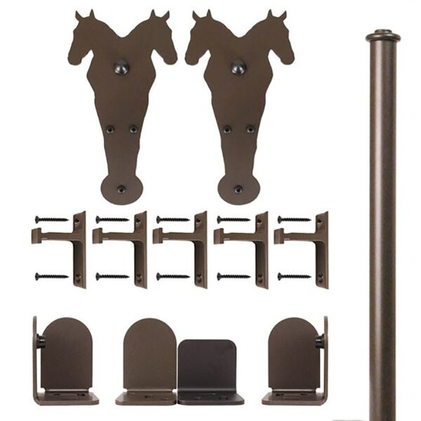 Double Horse Barn Door Accessory Kit by Quiet Glide
