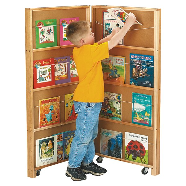 Library 16 Compartment Book Display with Casters by Jonti-Craft
