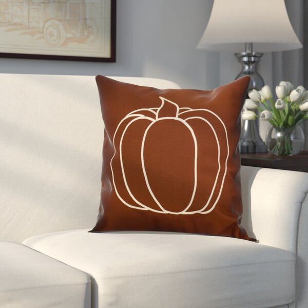 Miller Pumpkin Pie Geometric Throw Pillow by Alcott Hill