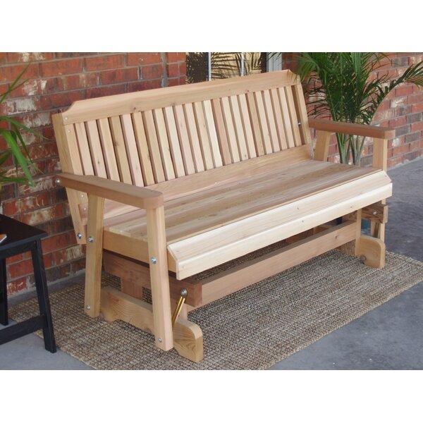 Courtney Cedar Glider Bench by Millwood Pines