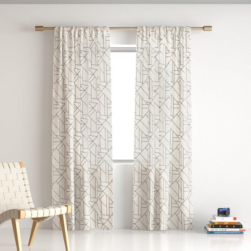 modern linen curtain panel