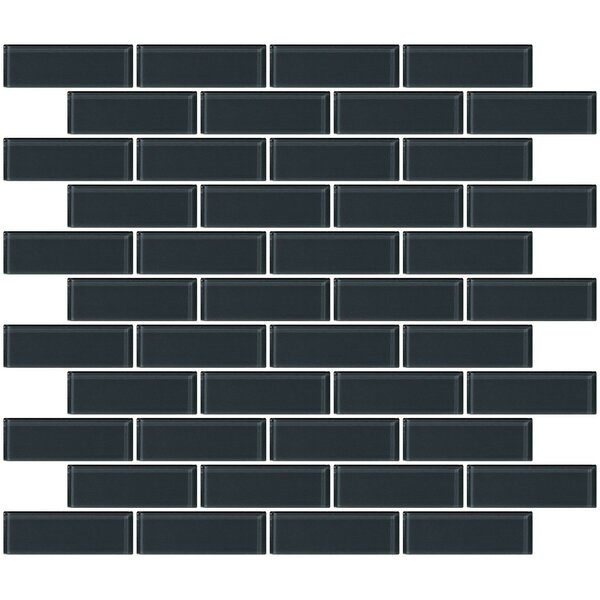 1 x 3 Glass Subway Tile in Glossy Dark Gray by Susan Jablon