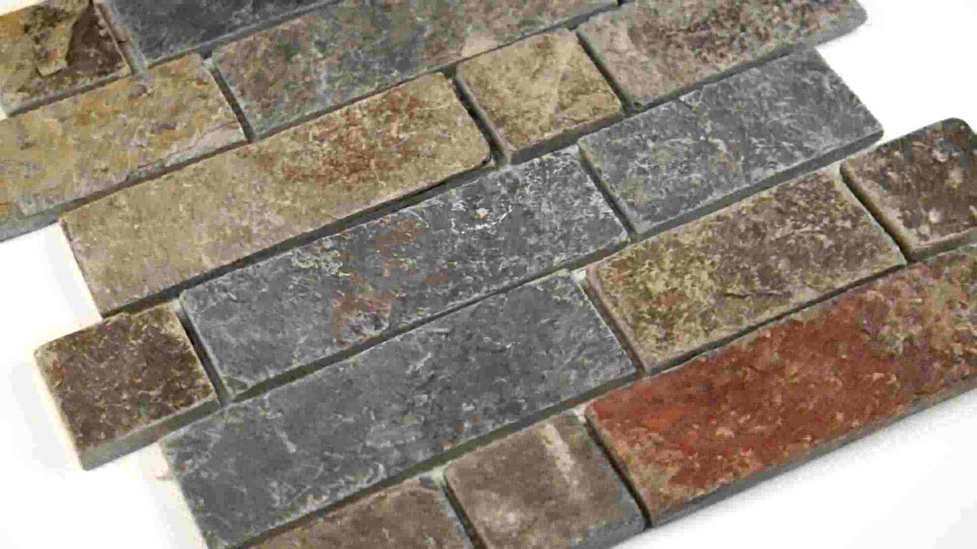 Random Sized Slate Mosaic Tile In California Gold