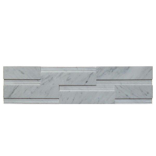 Wall Panel Polished Natural Stone Mosaic Tile in Carrara by QDI Surfaces