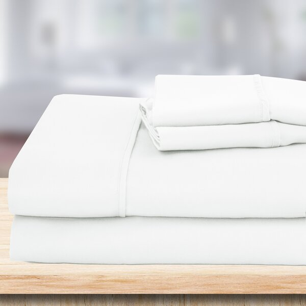 4 Piece 1500 Thread Count Sheet Set by Hotel Exclusive