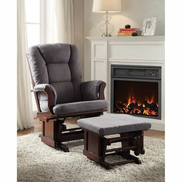 Reynaud Manual Glider Recliner with Ottoman W003151323