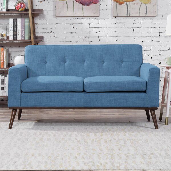 Wargo Mid Century Modern Loveseat by Wrought Studio