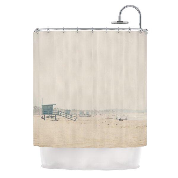 Summer Haze by Laura Evans Coastal Shower Curtain by East Urban Home