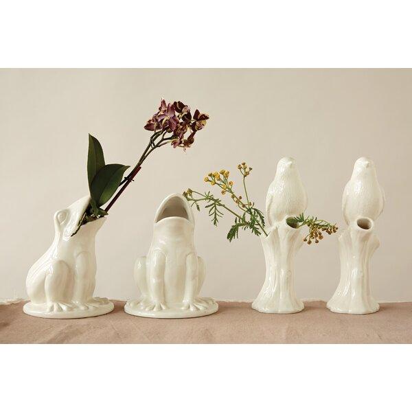 Knap Frog Stoneware Table Vase by Ophelia & Co.