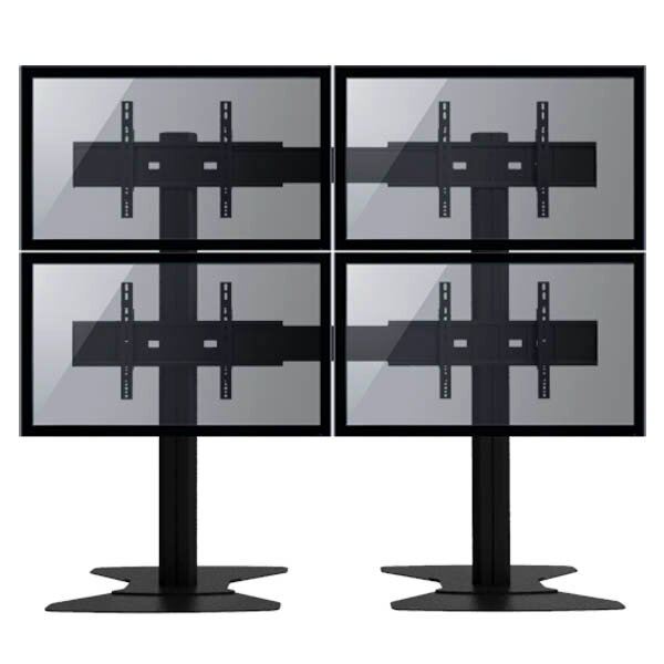 TygerClaw Mobile 4 TVs Universal Floor Mount for 30-60 Flat Panel Screens by Homevision Technology