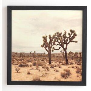 California Joshua Trees Framed Photographic Print by East Urban Home