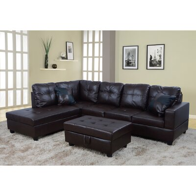 Brown Leather Sectionals You Ll Love In 2019 Wayfair