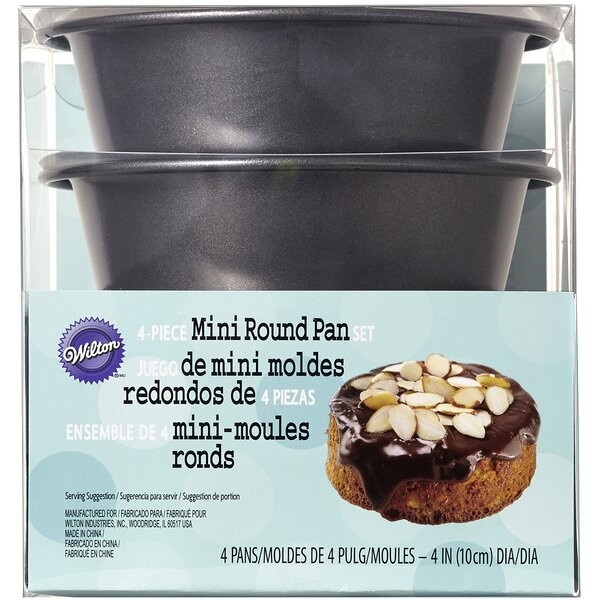 4 Piece Mini Round Pan Set by Wilton