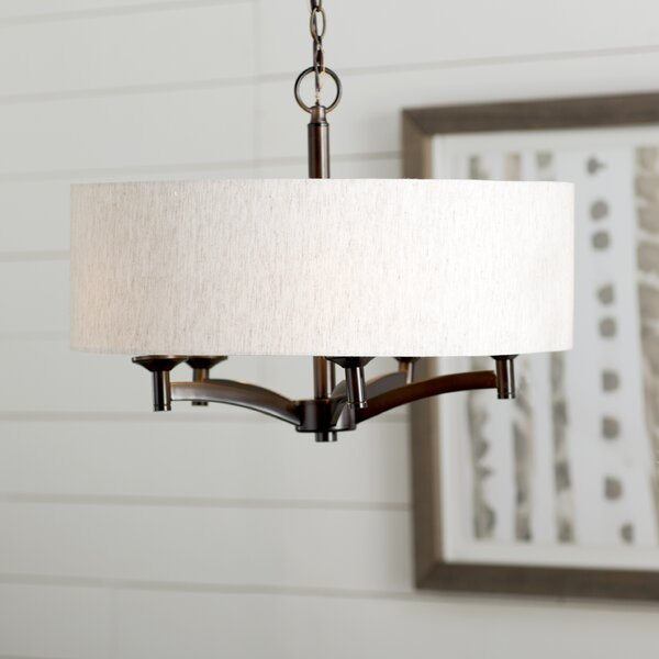 Harlan 5 - Light Unique / Statement Drum Chandelier By Three Posts