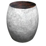 Wykoff Sea Crest Shell Stool by Highland Dunes