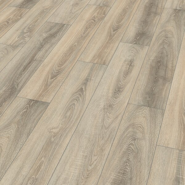 8 x 52 x 10mm Oak Laminate Flooring in Nostalgic Gray by ELESGO Floor USA