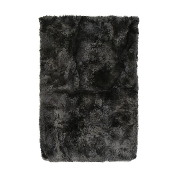 Christofor Sheepskin Longwool Steel Rug by Willa Arlo Interiors