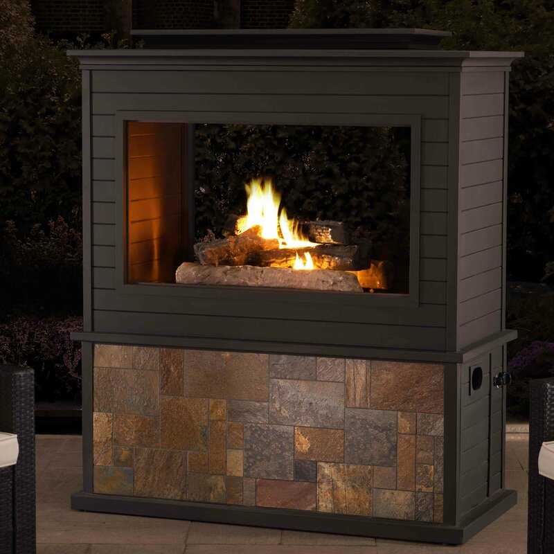 Sunjoy Steel Gas Fireplace Wayfair