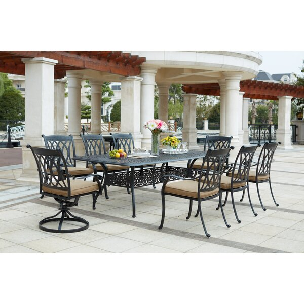 Melchior 9 Piece Rectangular Dining Set with Cushions by Astoria Grand