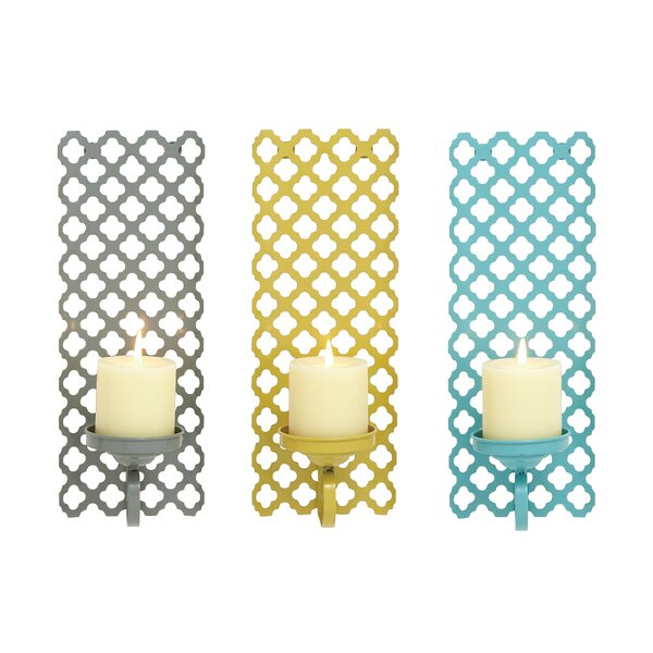 Iron Sconce Set (Set of 3) by Cole & Grey