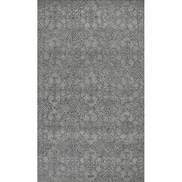 Gilleland Hand-Tufted Wool Gray Area Rug by Ivy Bronx