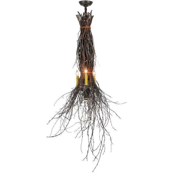 3-Light Candle Style Geometric Chandelier by Meyda Tiffany Meyda Tiffany