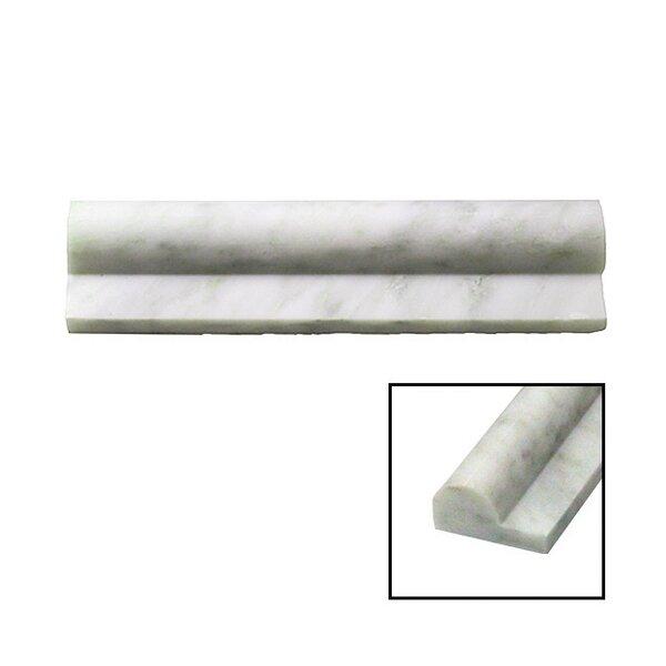 2 x 8 Marble Chair Rail Tile in Gray by Splashback Tile
