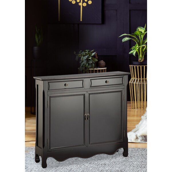Spadafore 2-door 2-drawer Cabinet In Grey by Bloomsbury Market