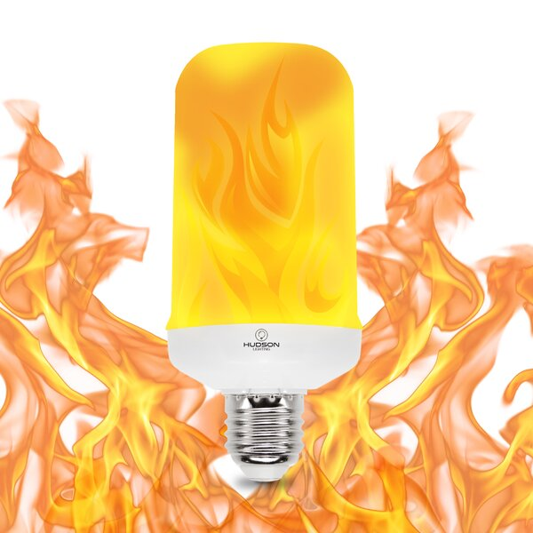 3W E26 LED Light Bulb Orange by Hudson Lighting Inc.