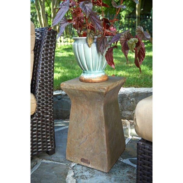 Astoria Stone/Concrete Side Table by Peak Season Inc.
