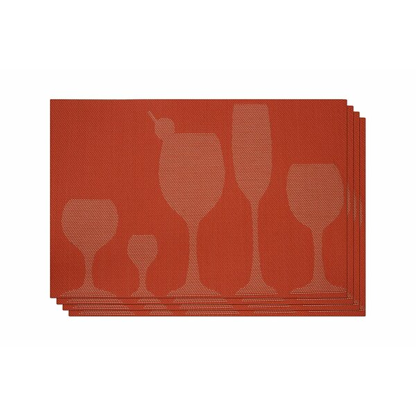 Damita Cocktail Placemat (Set of 4) by Red Barrel Studio