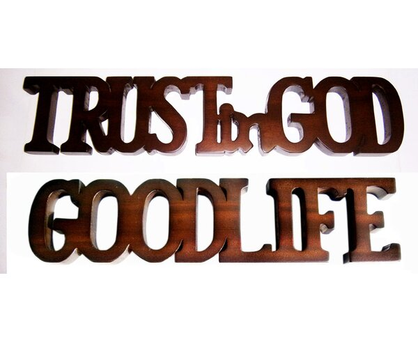 Trust In God and Good Life Word Sculpture by D-Art Collection