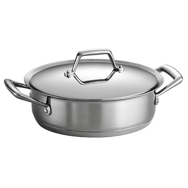 Gourmet Prima 3 Qt.Stainless Steel Round Casserole by Tramontina