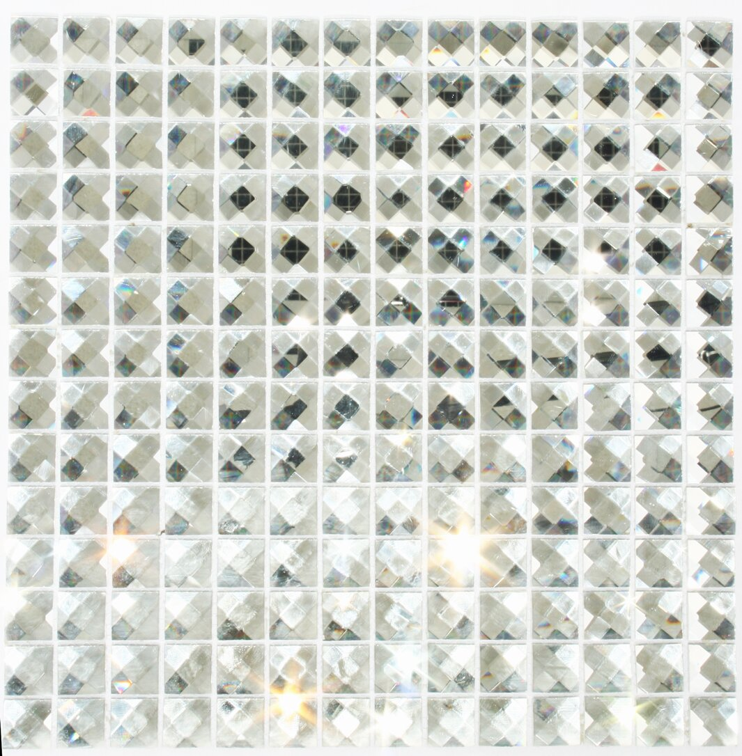 Susanjablon Signature Line Diamond Bling 1 X Gl Mosaic Tile In Gray Reviews Wayfair
