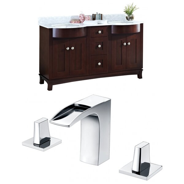 Tiffany 60 Double Bathroom Vanity Set by American Imaginations