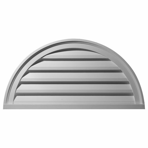 20H x 40W Half Round Gable Vent Louver by Ekena Millwork