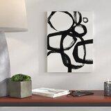'Brushstroke Circles II' Acrylic Painting Print on Canvas