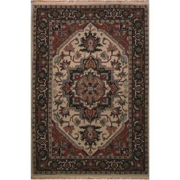 American Home Classic Heriz Hand-Tufted Antiqued Ivory Area Rug by American Home Rug Co.